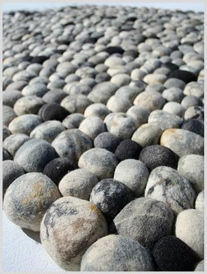 Pebbles carpet natural wool