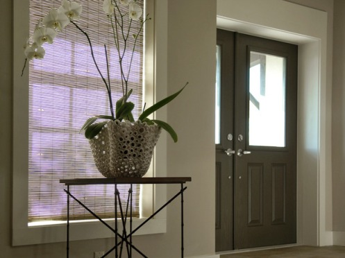 foyer flower pot white orchid classic hallway