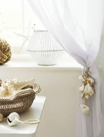 sea shell curtain decoration