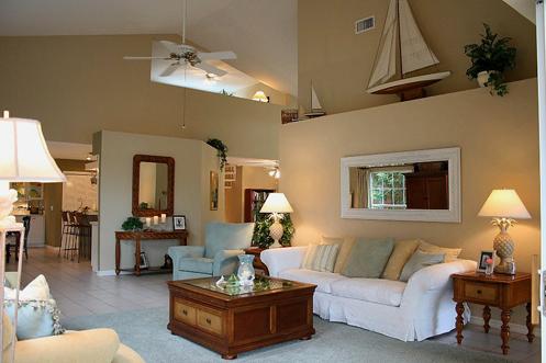 beige white blue coastal beachy nautical living room