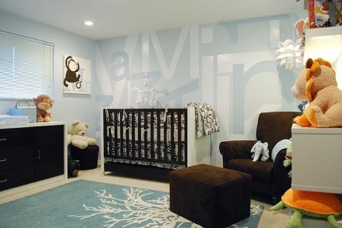 blue modern nursery