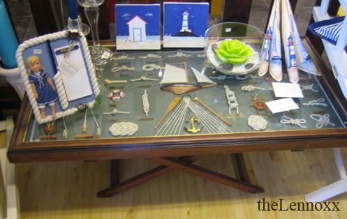 knot display nautical coffee table