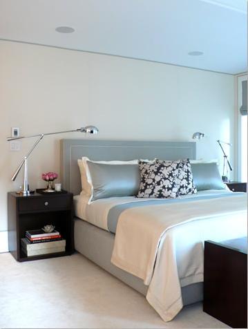 light blue white colod color palette modern bedroom