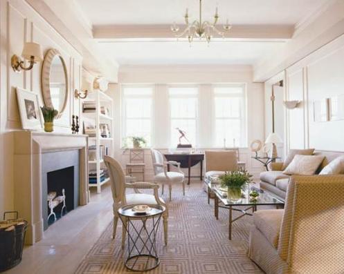 classy posh light cream living room