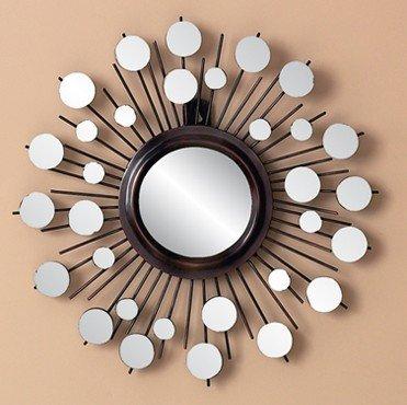 modern round sunburst mirror