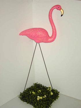 pink flamingo garden light retro modern 70's
