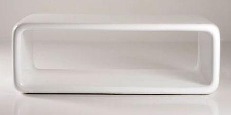 modern retro white rectangle table