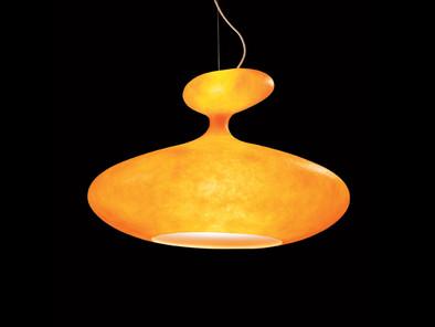 orange retro lamp