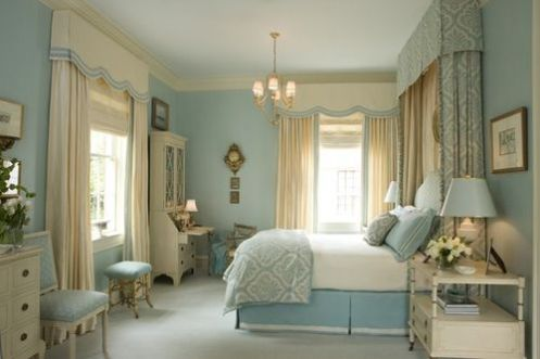 baby blue classic bedroom