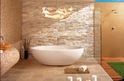 cream beige sand color bathroom raw tiles