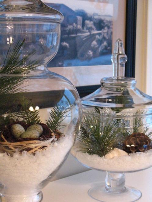 beach style home glass jar