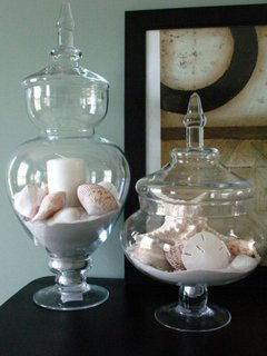 beach style home candle holder glass jar with sand detail