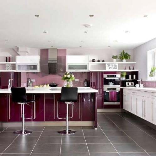 aubergine purple kitchen