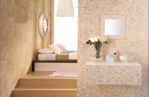Beautiful Sand Beige Cream Color Modern Bathroom Tiles