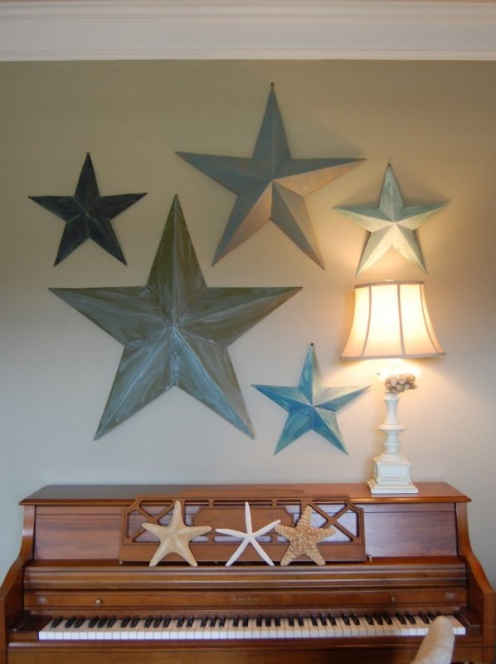 beach style home sea star and piano wall decoration