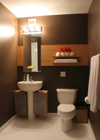brown modern bathroom