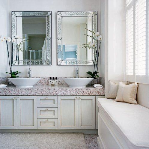 black and white posh home bathroom