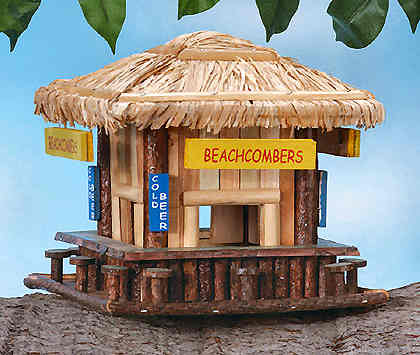 beach tavern wooden bird house