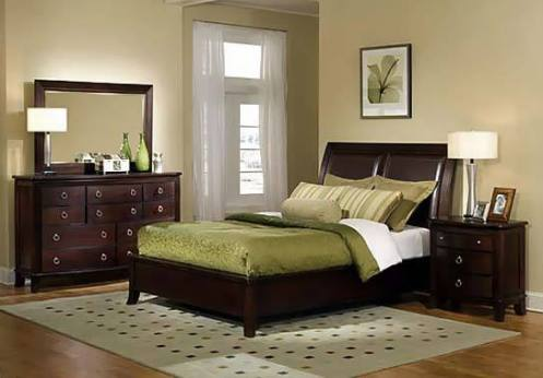 brown beige sand color modern natural look master bedroom