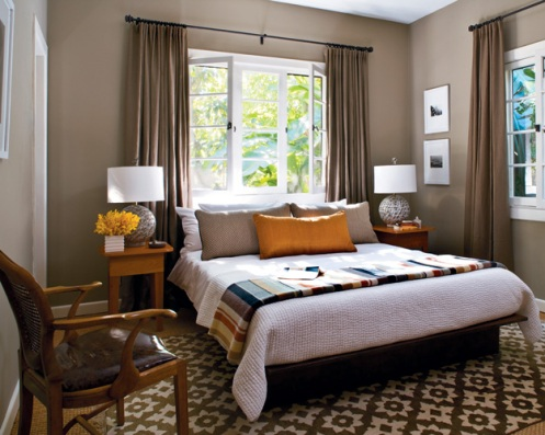 brown beige greige white orange modern bedroom