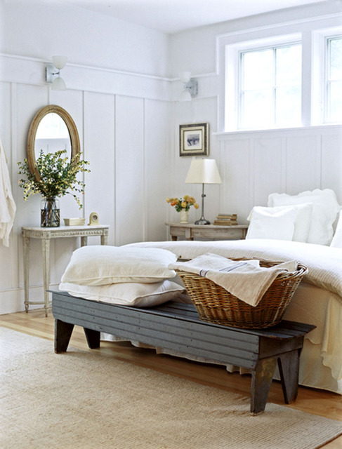 romantic country style white bedroom