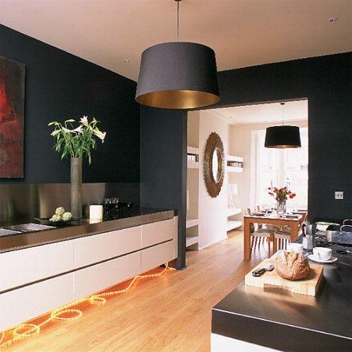 Black modern minimalistic kitchen