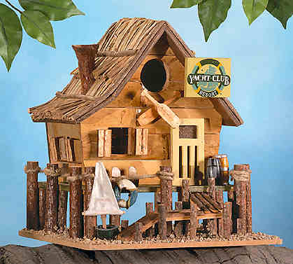 boat-house-wooden bird-house