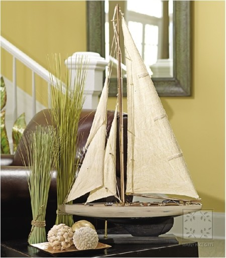 nautical style home sail boat