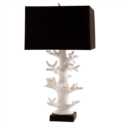 Black and wite coral table lamp