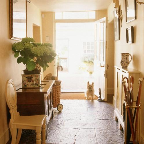 beige entry hallway