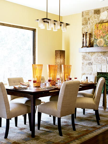 cream beige brown sophisticated posh classic dining room