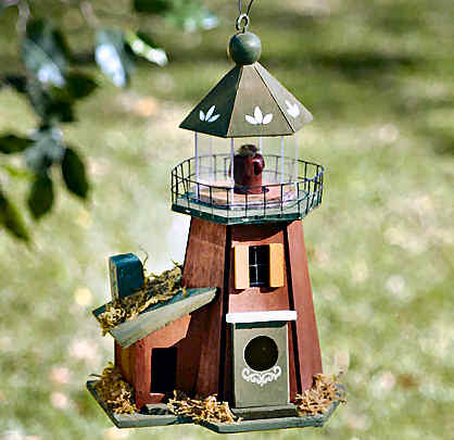 coastal-lighthouse-wooden birdhouse