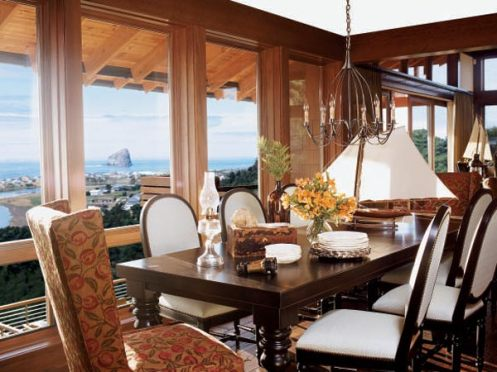 beachy nautical style dining room mahogany