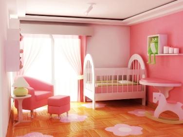 pink white nursery