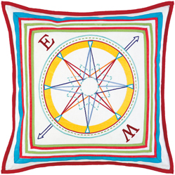 compass cushion pillow
