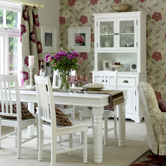 red wallpaper for living room. white and pink red roses wallpaper romantic country style dining room