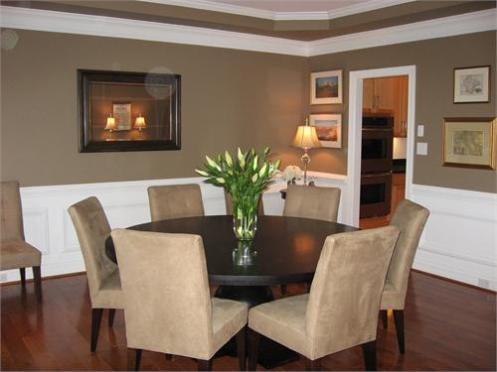 beige tan brown dining room area