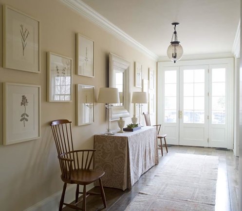 tan cream sophisticated hall entry foryer