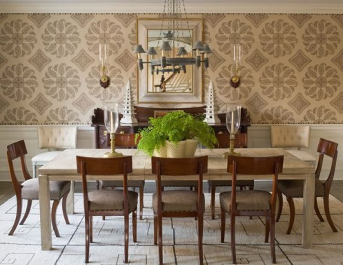 tan and cream sophisticated dining room