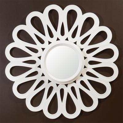 round white modern flower sun mirror