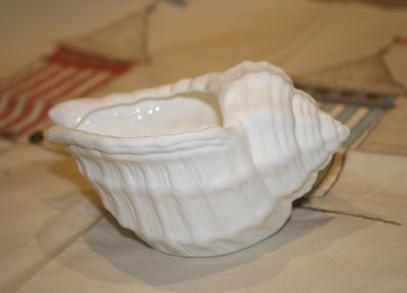 sea shell snail house white bowl
