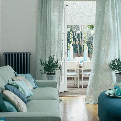 modern classic baby blue powder blue living room