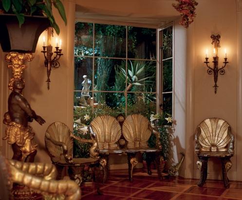 safari jungle palm african theme interior living room