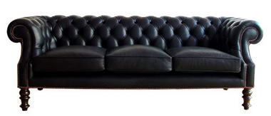 black modern classic sofa