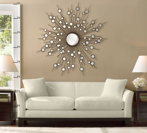 the sun mirror white sofa