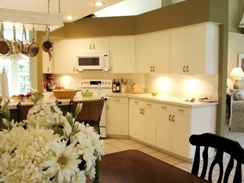 beige and white coastal beachy kitchen