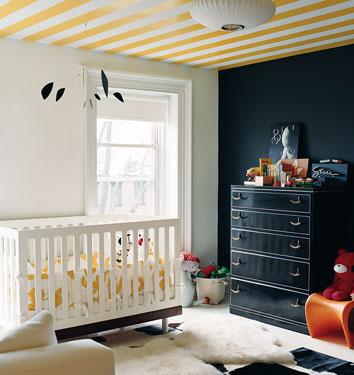 white yellow and black modern nursery jenna lyons