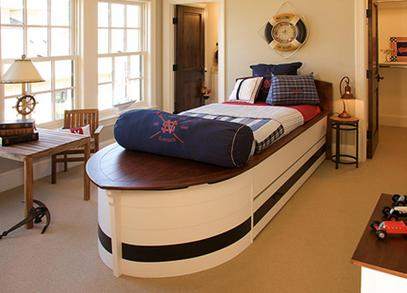kids room boat bed nautical style interior