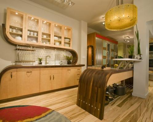 wooden modern kitchen