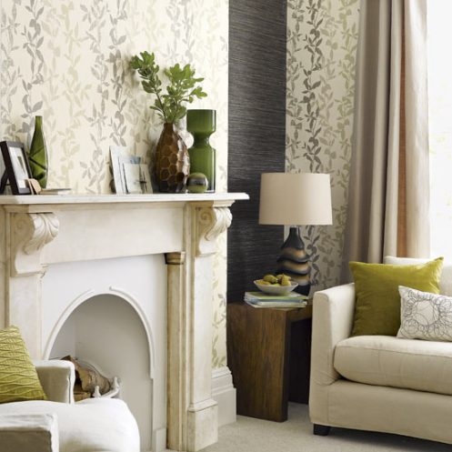 cream, grey gerige brown and green classic soft living room